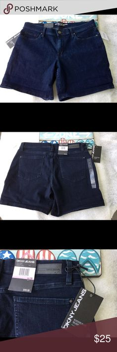 NWT DKNY Shorts size 10 New With Tags DKNY shorts , Bleecker Short Relaxed mid rise , inseam is 6 inches , fabric is 80% cotton, 18% polyester, 2% spandex DKNY Shorts Jean Shorts