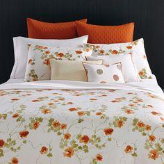 Vera Wang Orange Blossoms Duvet Set