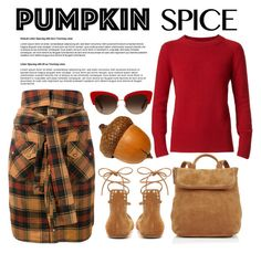 """""""Pumpkin Spice"""" by conch-lady ❤ liked on Polyvore featuring Faith Connexion, Isabel Marant, Burberry, Whistles and Dolce&Gabbana"""