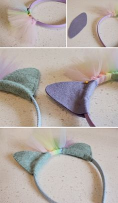Rainbow Dash headbands -- for some cute, MLP loving girls I know Rainbow Dash Party, Rainbow Punch, Rainbow Dash Costume, My Little Pony Party, Anniversaire My Little Pony, Diy For Kids, Crafts For Kids, Felt Crafts, Diy Crafts