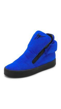 Giuseppe Zanotti Double Zipper Sneakers | SHOPBOP