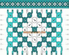 Diamond friendship bracelet pattern #3417 by mikkomix    http://www.braceletbook.com/pattern_normal/3417.html