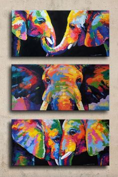 Beautiful DIY Canvas Painting Ideas for Your H. Beautiful DIY Canvas Painting Ideas for Your Home – Abstract Portrait Painting, Diy Painting, Painting & Drawing, Abstract Art, Image Painting, Painting Tutorials, Creative Painting Ideas, Watercolor Painting, Image Elephant