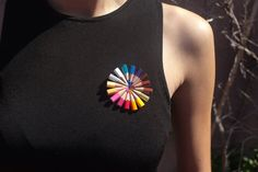 colored pencil brooch