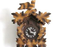 Vintage Wooden 8 Day Cuckoo Clock Regula by CreekLifeTreasures, $168.00