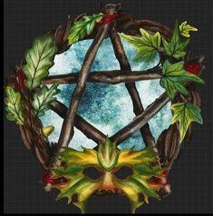 Winter Solstice, Pentacle, Yule, Painting, Art, Xmas, Art Background, Painting Art, Kunst