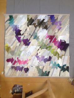 modern improvisational quilt