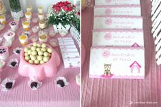 Details for this puppy themed party in pink