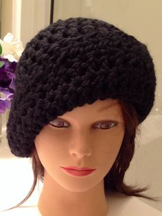 24fd7744a78 Items similar to Womens Black Hat Handmade Crochet Brim or NO Brim. Its all  up to you. The decision is all your  Winter Wear  Warm Wear  Accessories on  Etsy