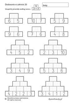 Number Bonds Worksheets, Mental Maths Worksheets, Math Addition Worksheets, Math Activities, Math Lesson Plans, Kindergarten Lesson Plans, Maths Sums, Math Subtraction, Abc For Kids