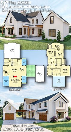 Architectural Designs - Selling quality house plans for over 40 years, Architectural Designs Modern Farmhouse Home Plan gives you square feet of living area with 3 bedrooms, baths. AD House Plan There are plenty of issues that can. The Plan, Sims House Plans, Dream House Plans, Modern Farmhouse Plans, Modern House Plans, Unique House Plans, Farmhouse Layout, Modern Floor Plans, Farmhouse Homes