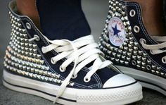 Studded converse..LOVE                                                                                                                                                      More