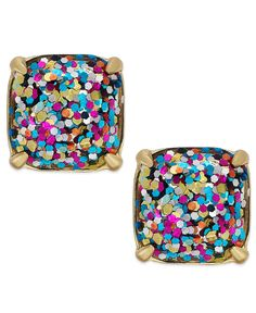 kate spade new york Gold-Tone Small Square Stud Earrings - All Fashion Jewelry - Jewelry & Watches - Macy's