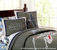 Star Wars™ Darth Vader™ Quilted Bedding | Pottery Barn Kids