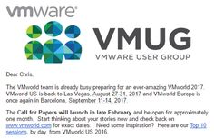 Preparing for the VMworld 2017 Call for Papers and VMUG UserCons - Wahl Network Open Source, Product Launch, Paper