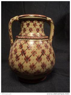 Vase Céramique Maroc Boujemaa Lamali 1930 Morocco Ceramic Middle Eastern Pottery