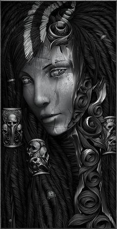 Sorceress by Hollllow on deviantART