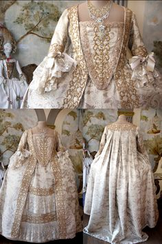 Costume 1700, by Scatola Magica 18th Century Dress, 18th Century Clothing, 18th Century Fashion, Vintage Gowns, Vintage Outfits, Vintage Fashion, Historical Costume, Historical Clothing, Rococo Dress