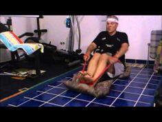 DIY - billiges Rudergerät - cheap rowing machine ;-) - YouTube