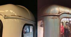 """Pont ott """"olajosodnak"""" a metrók (Tarlóssal szólva) ahol a régiek rozsdásodnak. Részletek a főoldalunkon. (Fotó: Zelki Benjámin) #metró #onlyinbudapest"""
