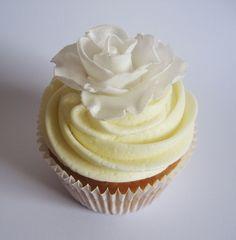 White Rose White Roses, Cupcakes, Desserts, Food, Tailgate Desserts, Cupcake Cakes, Deserts, Essen, Postres
