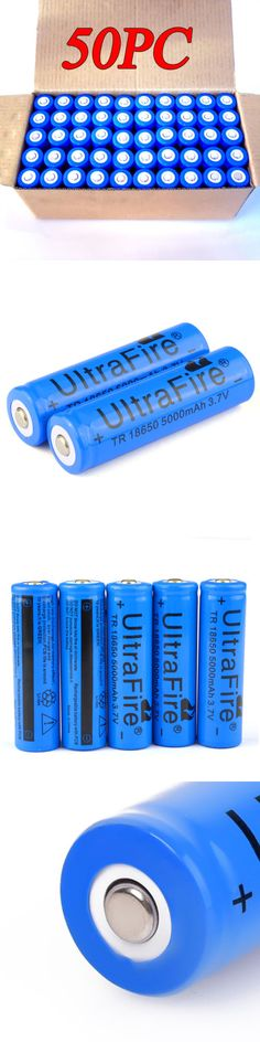 Rechargeable Batteries: 50Pcs Rechargeable 18650 Batteries 3.7V 5000Mah Li-Ion Brc Battery For Led Torch -> BUY IT NOW ONLY: $36.98 on eBay!