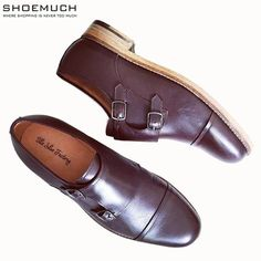 From fun to formals. Monk straps are sure shot when it comes to your dress code. Monks by The Shoe Factory.  #shoemuch #equipyourfeet #toomuchisnotenough #monkstraps #shoelove #happyshopping