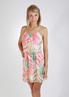Dropped Waist Printed Dress