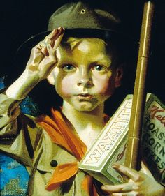 Bohemian Art Club: J. Leyendecker at the Haggin Museum-Part VI Norman Rockwell Art, Norman Rockwell Paintings, American Illustration, Illustration Art, Les Scouts, Jc Leyendecker, Bohemian Art, Portraits, Art Club
