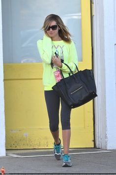 Ashley Tisdale - love the hoodie.