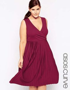 ASOS CURVE | Exclusive Wrap Dress with Pleats in Longer Length #AsosCurve #dress