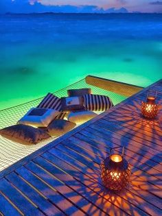 Hammock Off the Dock ... @Lily S ... We should do this for the second level deck in The Annex