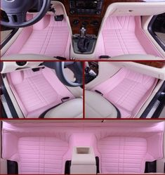 Girly car floor mats auto pink car mats car accessories for girls cool jeep accessories car Cool Jeep Accessories, Car Accessories For Women, Car Interior Accessories, Vehicle Accessories, Wrangler Accessories, Jeep Rose, Ford Gt, Accessoires Jeep, Kit Cars