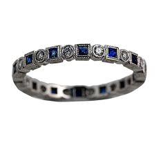 vintage Wedding Bands | ... Diamond Vintage Antique wedding Band 18k WG - Discount Diamond Rings