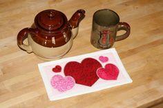 Cup-O-Love Mug Rug - via @Craftsy