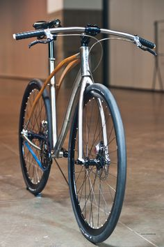 Titanium and wood bicycle / #bicycle