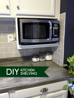 Major DIY's in the Kitchen: PART 3 – Additional Shelving - shelf ideas Kitchen Shelves, Kitchen Redo, Kitchen Pantry, Kitchen Storage, Kitchen Remodel, Kitchen Cabinets, Kitchen Worktop, Kitchen Unit, Kitchen Utensils
