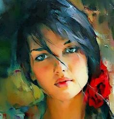 Michael and Inessa Garmash Picture Albums, Art For Art Sake, Portraits, Impressionist, Art Drawings, Africa, Romantic, Face, Artworks