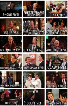 high fives barney stinson himym how i met your mother funny