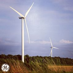 Wind turbines in operation at our Wieringermeer wind farm in the Netherlands. #energy #technology #wind #turbines