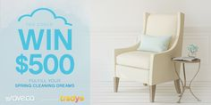 Check out Save.ca's Spring Cleaning Dreams Contest! Enter and you could WIN $500 towards a dream makeover of your favourite space.