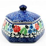 Polish Pottery Small Octagonal Trinket Box #1498   Polish Kitchen Online