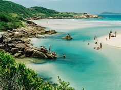 SANTA CATARINA - The Beach Guarda do Embaú is located in Palhoça, 50 km from the capital Florianopolis.                                                                                                                                                     Más