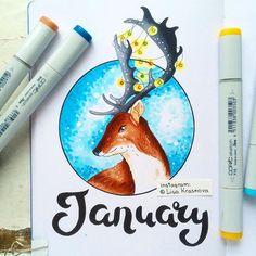 January...) ❄️ Зима - неиссякаемый источник вдохновения, но весну я люблю намного больше :) И вновь спасибо kalachevaschool за идею ;)
