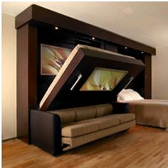 Functional Murphy Bed Design By Inova. Itu0027s A Bed And A Sofa