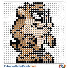 Taz plantilla hama bead. Descarga una amplia gama de patrones en formato PDF en www.patroneshamabeads.com
