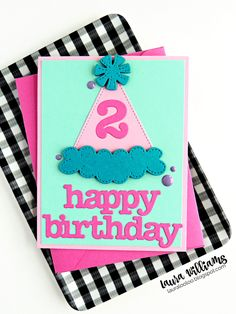 lauralooloo: Are You Looking For Adorable (and Simple) Birthday Card Ideas? Simple Birthday Cards, Card Making Techniques, Handmade Cards, Cardmaking, Card Ideas, Happy Birthday, Paper Crafts, Scrapbook, Stamp