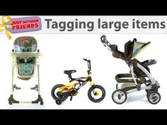 How to tag large items with multiple pieces for the Just Between Friends sales. Just Between Friends is North America's Leading Children's and Maternity Cons. Between Friends, Just Friends, Extra Cash, Things To Sell, Tags, Learning, Idaho, Vancouver, Videos