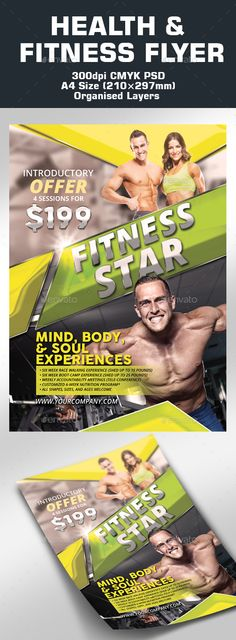 Modern Fitness Flyer Flyers, Fitness and Modern - fitness flyer