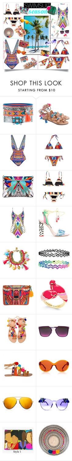 """""""Get The Look: Swimsuit Edition"""" by adswil ❤ liked on Polyvore featuring New Look, Camilla, Salinas, Mara Hoffman, Sophia Webster, Lilly Pulitzer, Accessorize, Kate Spade, Elina Linardaki and Mykita"""